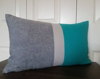 Color Block Pillow Cover Modern Home Decor Decorative Throw Pillow Cushion Cover Accent Pillows Colorblock Pillow Covers Linen Pillow Covers