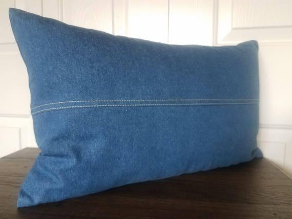 DENIM BLUE THROW Pillows Dark Blue