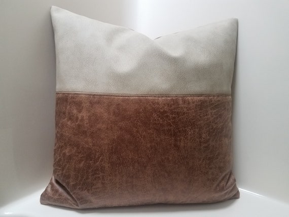 Peachy Vegan Leather Pillow Covers Leather Throw Pillow Case For Couch Faux Leather Pillow Covers Color Block Pillows Rustic Pillow Covers Pabps2019 Chair Design Images Pabps2019Com