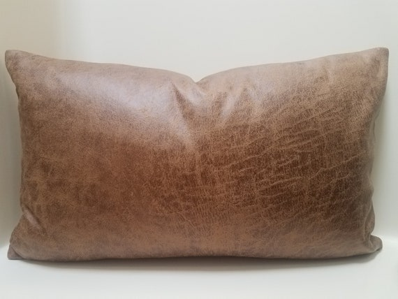 Terrific Brown Faux Leather Pillow Cover Lumbar Leather Throw Pillow Case Faux Leather Pillow Covers Farmhouse Couch Pillows Southwestern Pillow Andrewgaddart Wooden Chair Designs For Living Room Andrewgaddartcom