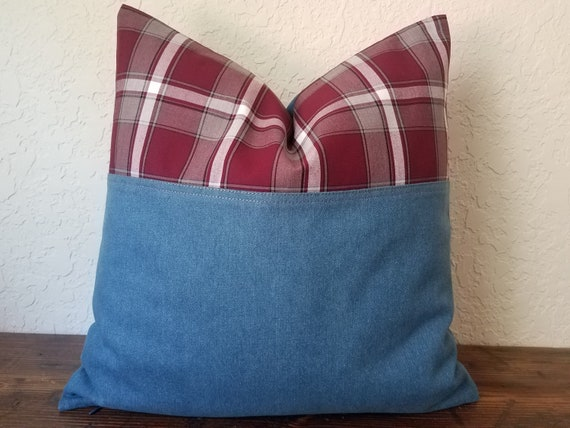 Oblong Pillow Modern Bohemian in Blue
