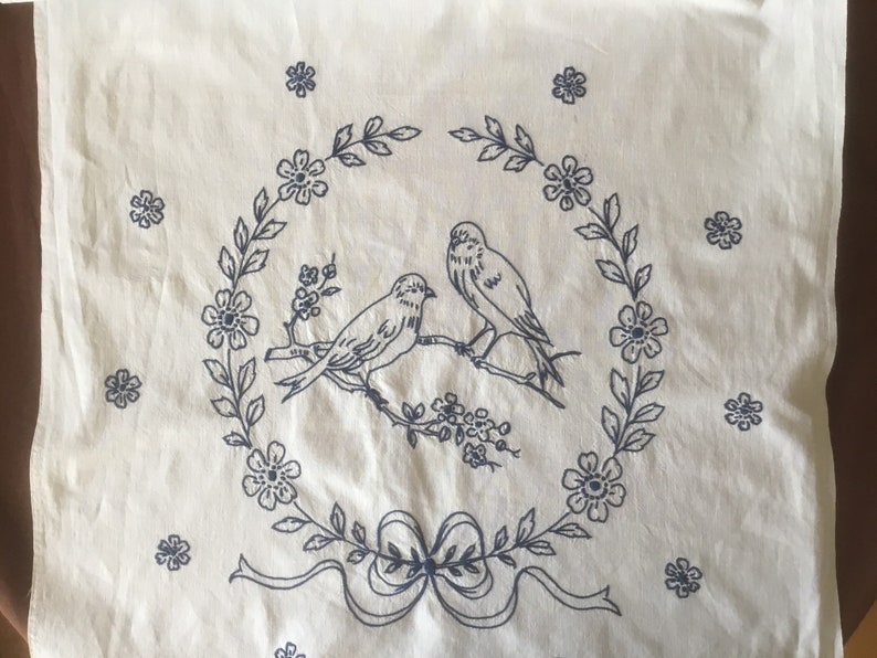 Curtain Antique handembroidered kitchen Curtain French antique linen and lace