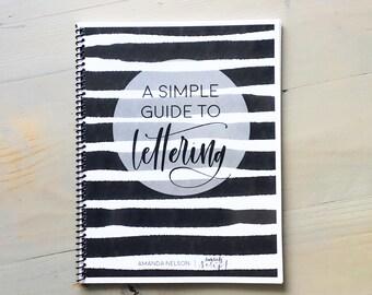 Lettering Guide, How to Letter, Lettering Kit, Lettering Beginner, Birthday Gift, Simple Guide to Lettering, Lettering DIY