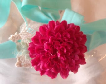 Baby Flower Headband, Flower Headband, Baby Flower Crown, Newborn Photo Prop, Floral Headband, Flower Girl Headband, Wedding Headband