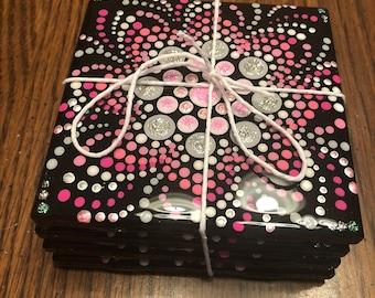 Pink Mandala Coasters