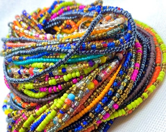3 for 20.00 Tie On Waist Beads, Waist Beads, African Waist Beads, Weight Loss Motivation, Body Jewelry