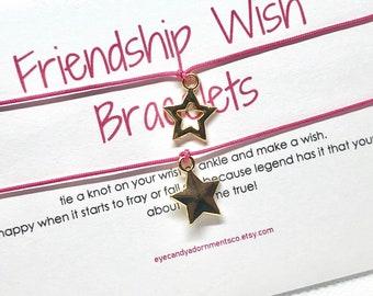BFF Bestie Friendship Wish Bracelets, Star Bracelet, Bestie Bracelets