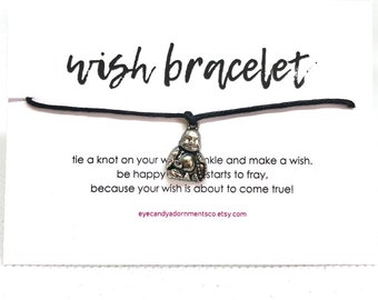Buddha Wish Bracelet, Buddhist Bracelet, Mantra Bracelet, Meditation Bracelet, String Bracelet