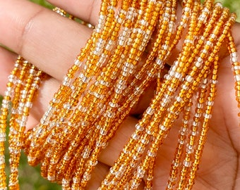 Clear & Gold Traditional Screw On Waist Beads