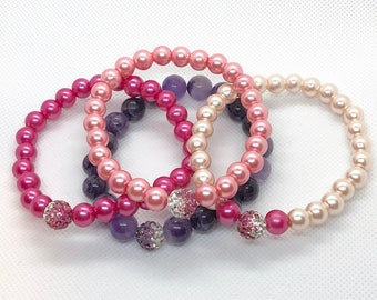 Mixed Pearl & Purple Amethyst Bracelet Cuties