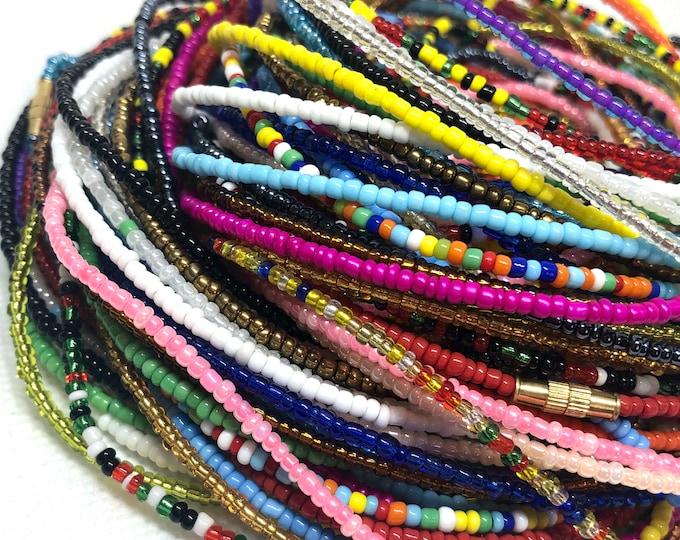 Featured listing image: Traditional Screw On Waist Beads, Waist Beads, Belly Beads, Slimming Beads, Weightloss Tracker, Feminine Jewelry, Waist Shaper, Body Jewelr