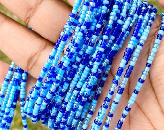 Blue's Blue Traditional Screw On Waist Beads