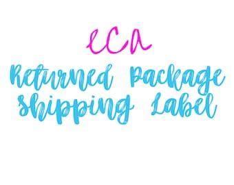 Returned Package Label
