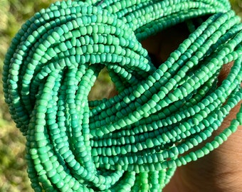 Green Traditional Screw On Waist Beads, African Waist Beads, Belly Beads, African Jewelry, Body Jewelry