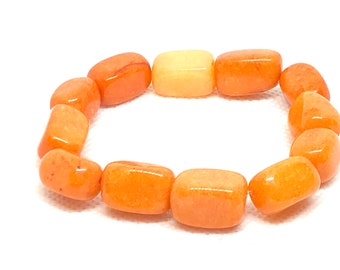 Orange Nugget Bracelet, Halloween Jewelry, Halloween Bracelet