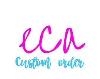 Custom Waist Beads Order for Ann