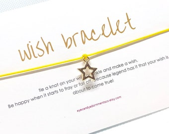 Star Wish Bracelet, Make A Wish Bracelet, Secret Santa Gift