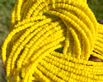 Yellow Traditional Screw On Waist Beads, African Waist Beads, Belly Beads, African Jewelry, Body Jewelry