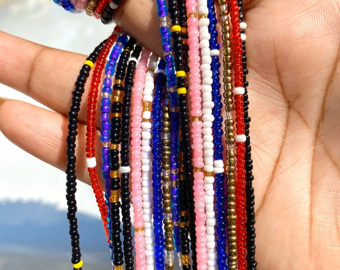 Featured listing image: TWO COLORS Traditional Screw On Waist Beads