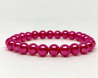 Pink Pearls Bracelet, Wedding Jewelry, Wedding Accessories, Formal Jewelry