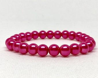 Pink Pearls Bracelet, Wedding Jewelry, Wedding Accessories, Formal Jewelry