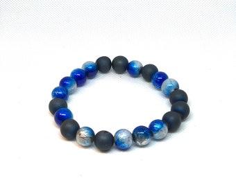 """Blue & Blue Bracelet Size 8"""""""