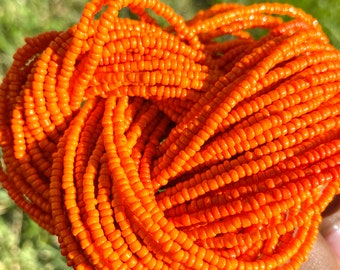 Orange Traditional Screw On Waist Beads, African Waist Beads, Belly Beads, African Jewelry, Body Jewelry
