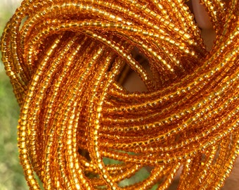 Gold Traditional Screw On Waist Beads, African Waist Beads, Belly Beads, African Jewelry, Body Jewelry