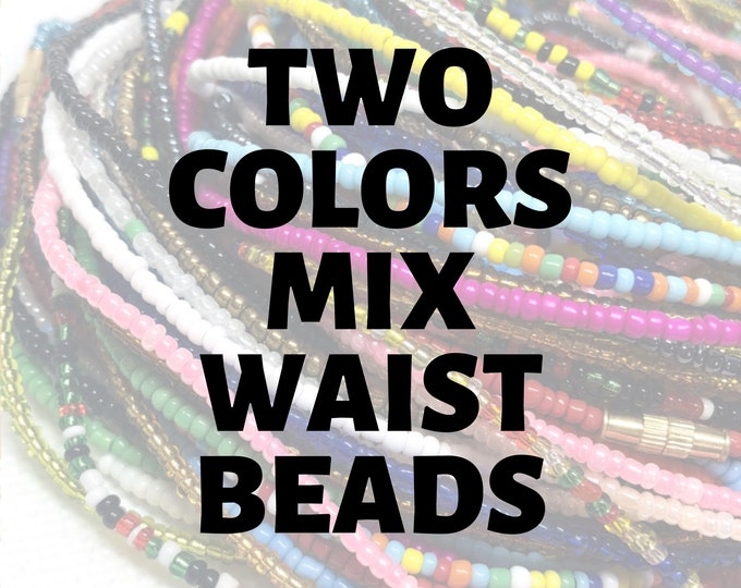 Featured listing image: TWO COLORS Traditional Screw On Waist Beads, Waist Beads, Belly Beads, Slimming Beads, Weightloss Tracker, Feminine Jewelry, Waist Shaper