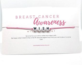 Pink Wish Bracelet, Breast Cancer Awareness, Wish Bracelet, Inspiration Bracelet, Party Favors, Simple Bracelet, Cancer Awareness