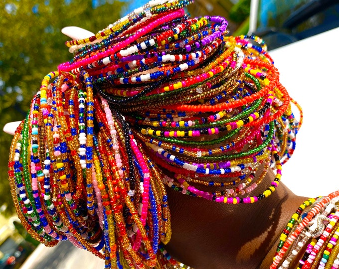 Featured listing image: Colorful Beaded Bracelet Set of 10 Bracelets
