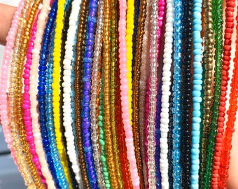 SOLID COLORS Traditional Screw On Waist Beads, African Waist Beads, Belly Beads, Body Jewelry