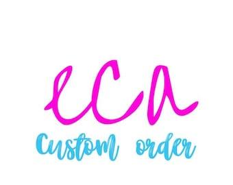 Custom Order for ardeliaorji