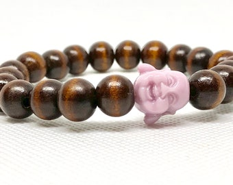 Buddha Brown Wood Beads Bracelet