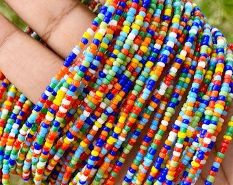 Rainbow Removable Screw On Waist Beads