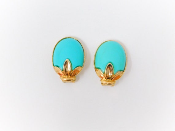 Crown Trifari © Vintage Earrings - image 1
