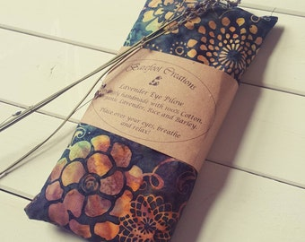 Lavender scented eye pillow. Yoga, meditation, relaxation, sleeping aid, spa.
