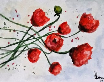 A SPREE OF POPPIES