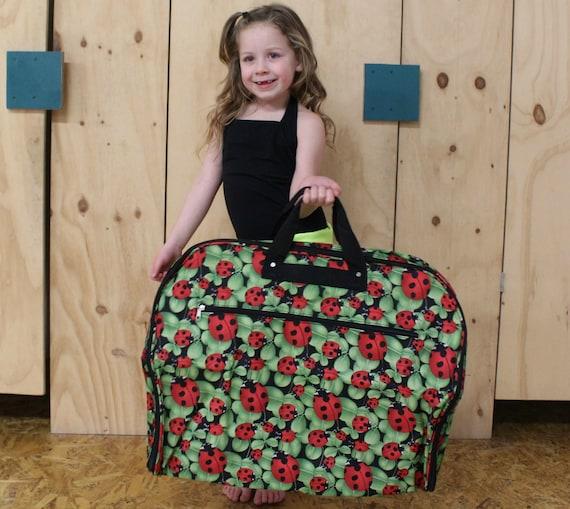 Monogramme Lady Bug sac de vêtement personnalisé danse, joie, voyage, robe, costume, poche sac fourre-tout