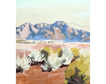 Sagebrush - Archival print of painting of desert landscape in Utah