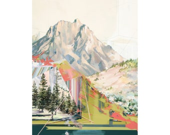 Gossamer - Archival print of painting of Crested Butte's Ruby Peak