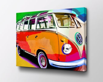 Hippie Art Canvas Etsy