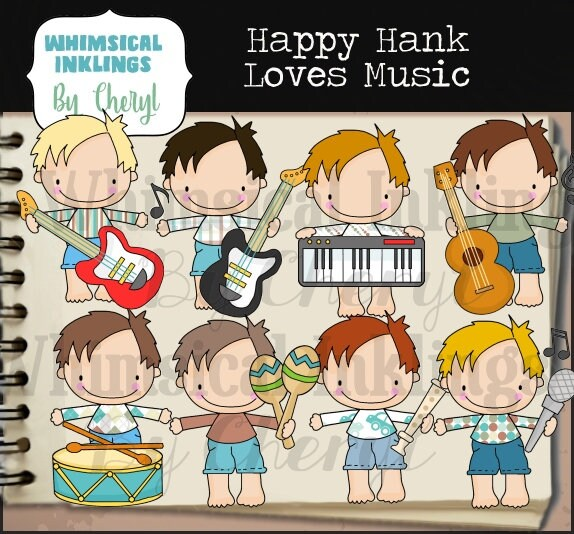 Happy Hank Love Music Clipart Collection For Teachers
