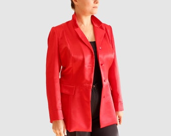 Women fashion 90 Red jacket Women clothes Women jacket Red blazer Ladies fashion lady Red women jacket Cocktail clothing jacket #SvB