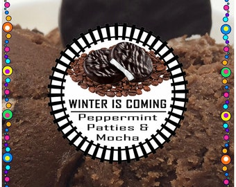WINTER Is COMING (Peppermint patty chocolate mocha)  - Edible Cookie Dough - No Bake, Just Eat - Made to Order
