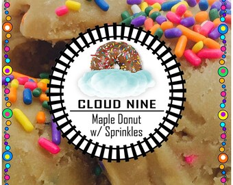 CLOUD NINE (Maple Donut/Rainbow Sprinkles)   - Edible Cookie Dough - No Bake, Just Eat - Made to Order