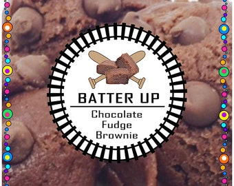 BATTER UP (Chocolate Fudge Brownie)  - Edible Cookie Dough - No Bake, Just Eat - Made to Order