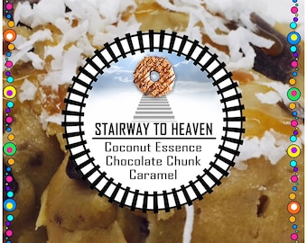 STAIRWAY TO HEAVEN (Coconut Essence/Caramel/Chocolate Chip)  - Edible Cookie Dough - No Bake, Just Eat - Made to Order