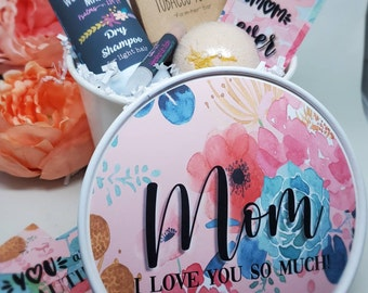 Personalized Gift Bundle   Spa Gift Basket   Organic All Natural Self Care Package   Custom Name   Mothers Day gift for her bucket   Bath