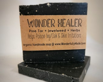 Wonder Healer Soap   Pine Tar   Jewelweed   Herbal   Colloidal Oatmeal   for Poison Ivy and other Skin Ailments